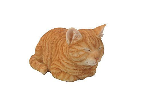 Hi-Line Gift Ltd Tabby Sleeping Cat Statue, - Figurine Statue Cat