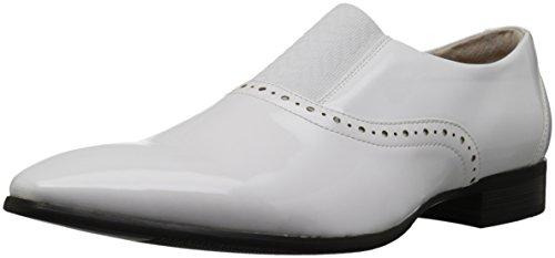 Stacy Adams Mens Vale Plain-Toe Formal-Tuxedo Slip-On Loafer