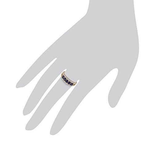 Gemondo Bague Saphir, 9ct Or Jaune 0.83ct Bague Saphir & Diamant