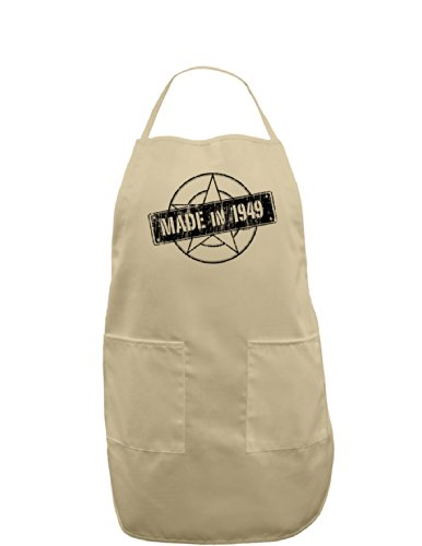 (TooLoud 70th Birthday Gift Made in 1949 Adult Apron - Stone - One-Size)