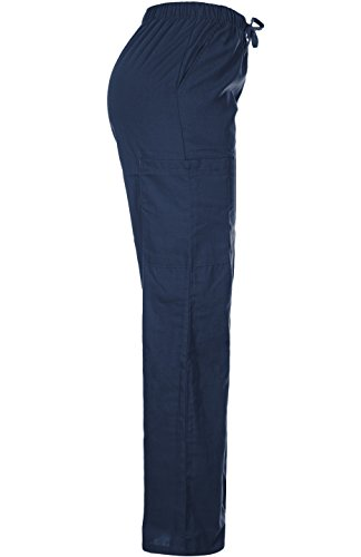 MedPro Women's Medical Scrub Set Mock Wrap and Cargo Navy M (GT-756) by MedPro (Image #6)