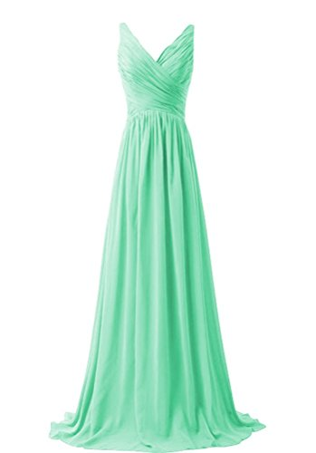 Dress Bridesmaid Mint Women Gown Length MaliaDress M015LF Evening Floor Chiffon Prom qpXnZwRvwY