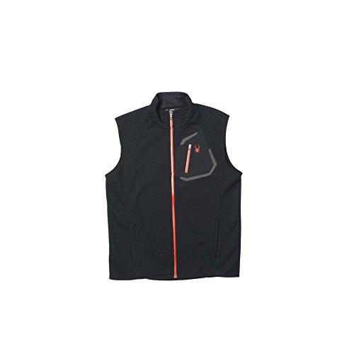 Spyder Men's Paramount Light Weight Core Sweater Vest Jacket, Black/Volcano, Large ()