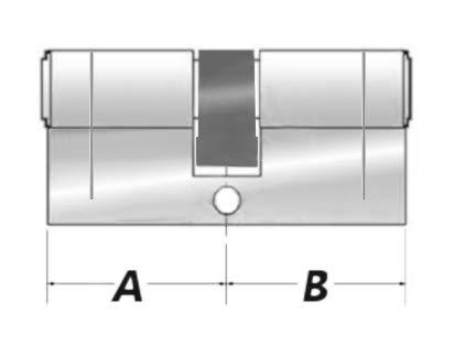 Mismo Cierre para PVC // Upvc Puertas Anti- Recoger 2pk Alta Seguridad Euro Cerraduras de Puerta Cilindros Patio Etc. Taladro contra Presi/ón Tama/ño: 40//50 6X Llaves N/íquel Acabado Golpe