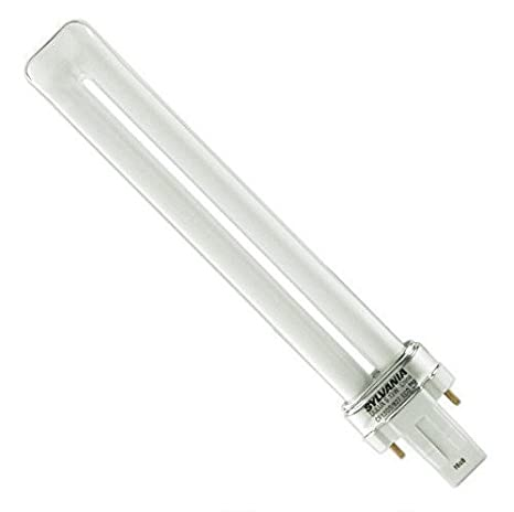 2700K 4-Pack GX23 Bi-Pin Base CF13DS//827//ECO 13-Watt Single Tube Compact Fluorescent Light Bulb T4 Shape 82 CRI 800 Lumens Sylvania 21136