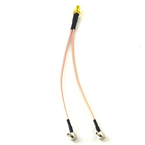 8 inch SMA Female to Y type 2 X TS9 Angle Male Connector Splitter Combiner Cable Ships from USA