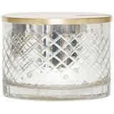 Capri Blue - 15 Oz Mercury Candle Bowl with Wooden Lid - Modern Mint