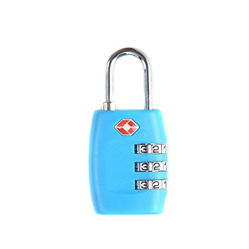 Tinksky TSA Approved Locks Security Luggage Locks 3-Digit Combination Password Locks Padlocks(Blue)
