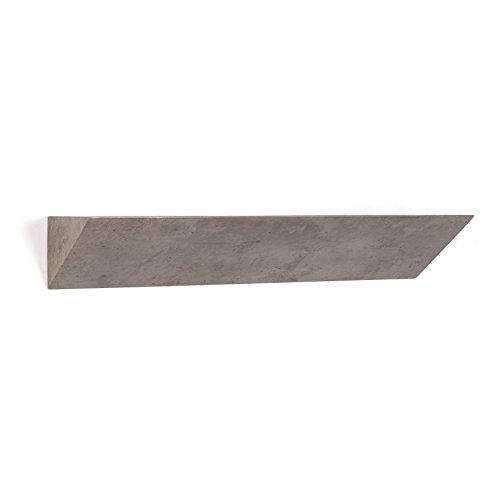 Danya B. XF161207GR Modern Minimalist Home Décor - Floating Triangular Ledge Wall Shelf - ()