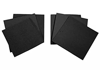 Ninepeak Rubber Sheet, 6 Inch X 6 Inch Square, Black - 0.02 Inch, 0.04 Inch, 0.06 Inch. Thick