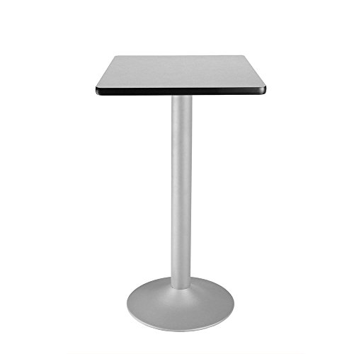 Square Flip-Top Cafe Table Silver Base - 24