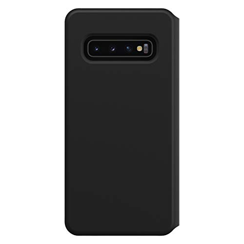 Otterbox Strada Via - Funda con Tapa Anti Caídas, Fina y Elegante para Samsung Galaxy S10, Negro
