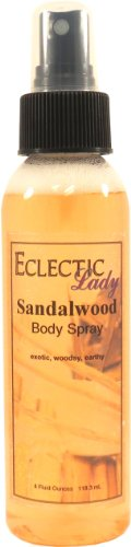 Sandalwood Body Spray, 4 ounces by Eclectic Lady