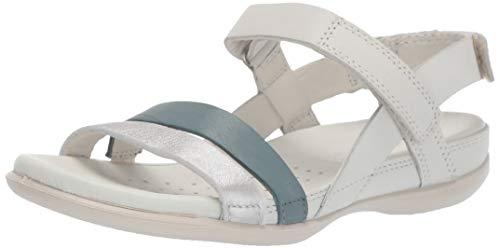 ECCO Women's Women's Flash Ankle Strap Sandal, Trooper/Shadow White, 40 M EU (9-9.5 ()