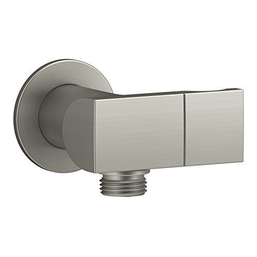 (KOHLER K-98354-BN Exhale Wall-Mount Supply Elbow with Check Valve & Handshower Bracket, Vibrant Brushed Nickel)
