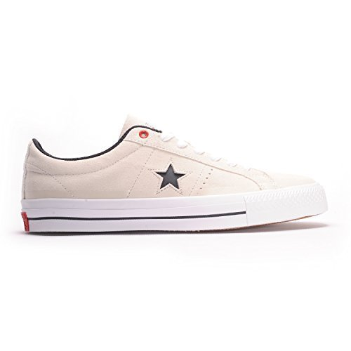 540870402310 Galleon - Converse One Star Pro Suede Ox (Buff Black White) Mens Skate  Shoes-11