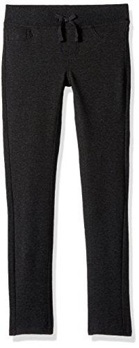 Lee Toddler Girls' Knit Waist Skinny Pull on Pant, Dark Grey, 3T Image