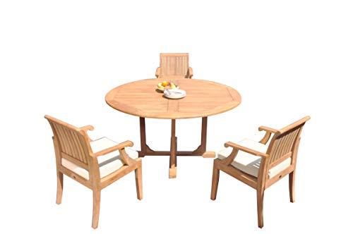 WholesaleTeakFurniture Grade-A Teak Wood 3 Seater 4 Pc Dining Set: 60