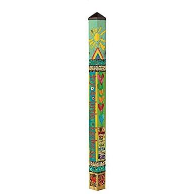Studio M Garden Art Pole Fade-Resistent Outdoor Décor, 6-Feet Tall, Kindness Matters : Garden & Outdoor