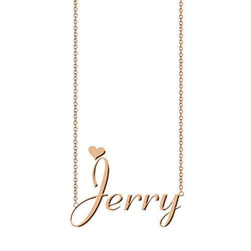 ZAloha Personalized My Any Name Necklace Jerry - Jerry Turquoise Necklace