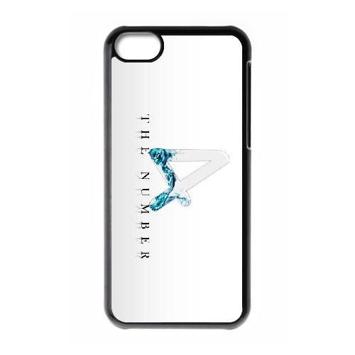 P6N47 C7K4YI cas d'coque iPhone de téléphone cellulaire 5c couvercle coque noire IK4TPS1MT