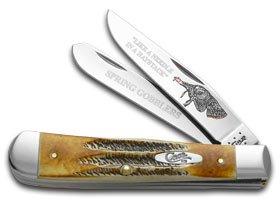 Trapper Turkey - CASE XX Turkey 6.5 BoneStag Trapper 1/500 Stainless Pocket Knife Knives