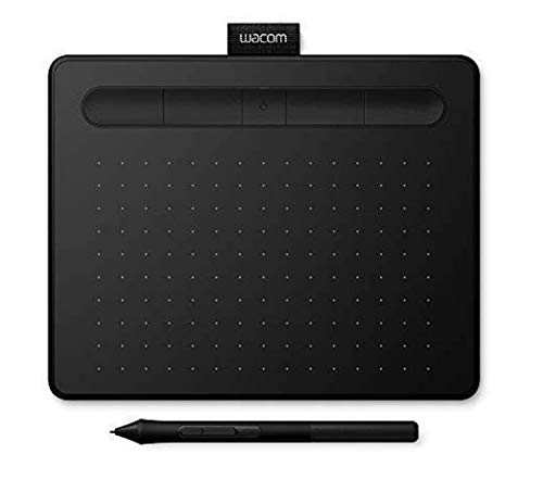 Wacom Intuos S, Bluetooth Pen Tablet, Wireless Graphic Tablet for Painting, Sketching and Photo Retouching with 2 Creative Software Downloads, Black - Ideal for Work from Home & Remote Learning