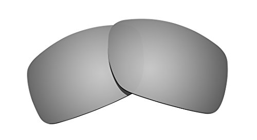 Littlebird4 Replacement Sunglasses Lenses Compatible with Oakley Big Taco, Polarized with UV Protection-Titanium