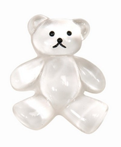 Small White Teddy Bear Charm and Favor Supplies and Invitation Embellishments and Decoration - 3/4 inch Long - Bag of 6