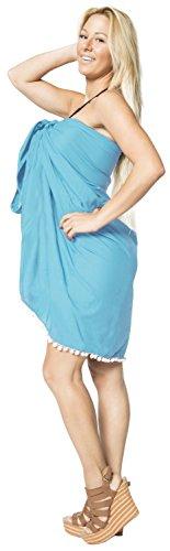 encubrir vestidos de ropa de playa del traje de baño de baño hawaiano pareo complejo desgaste de la travesía Azul