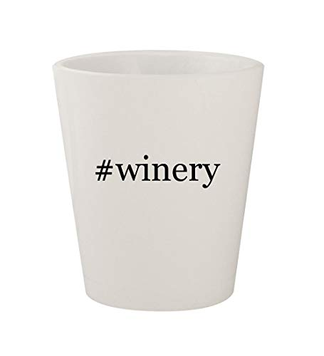 #winery - Ceramic White Hashtag 1.5oz Shot Glass