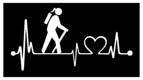 - Bluegrass Decals K1012 Girl Hiker Heartbeat Lifeline Monitor Hiking Camper Camping Decal Sticker