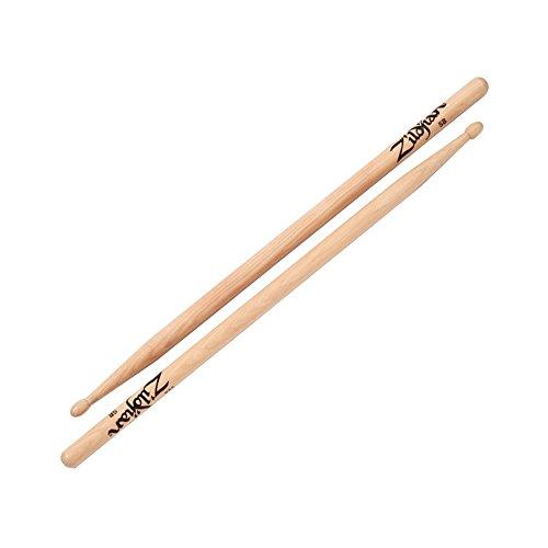 Zildjian 5B Wood Natural Drumsticks (Drumsticks Natural 5b Wood)