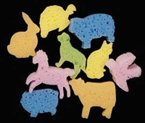 Dip & Print Animals Sponges (9)