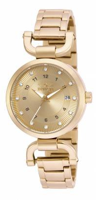 Invicta Women's 16225 Angel Analog Display Japanese Quartz Gold Watch