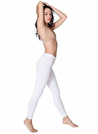 American Apparel Cotton Spandex Jersey Legging, White, X-Small
