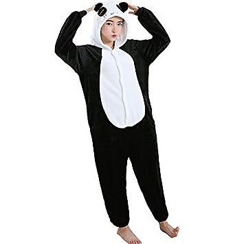 8f6740be21 Pijamas Oso Panda Leotardo Pijama Mono Festival Celebración Ropa de Noche  de los Animales Halloween Blanco Estampado Animal