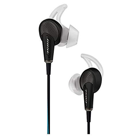 Bose QuietComfort 20 Acoustic Noise Cancelling headphones (Apple) (Black) (In Ear Noise Cancelling Bose)