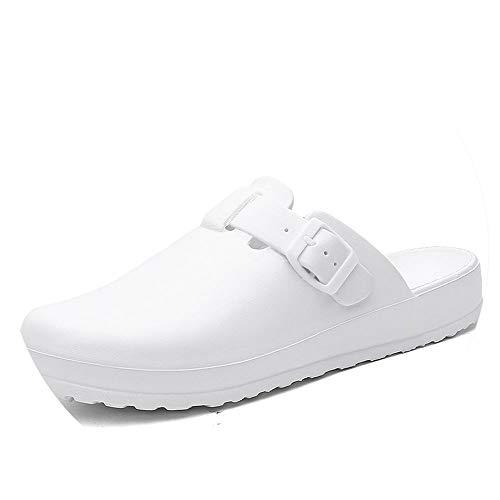 Women's Slippers EVA Clogs Surgical Shoes Hospital Anti-Slip Sandal Mules Medical Nursing Shoes White