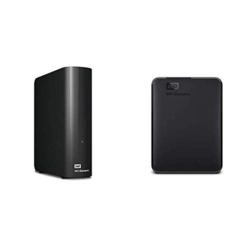 (Western Digital 8TB Elements Desktop Hard Drive - USB 3.0 - WDBWLG0080HBK-NESN & Digital 4TB Elements Portable External Hard Drive - USB 3.0 - WDBU6Y0040BBK-WESN)