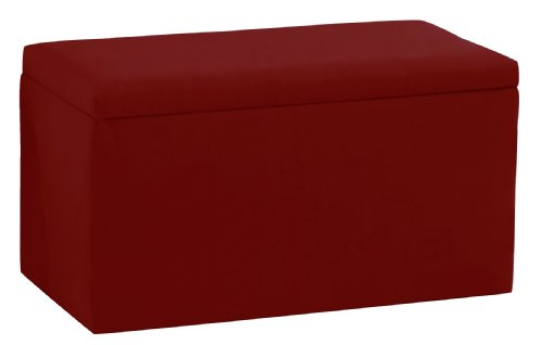 - Skyline Furniture Smarty Pants Kid'S Storage Bench By In Cardinal Red Cotton