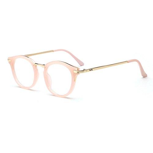 D.King Vintage Round Prescription Eyeglasses Horn Rim Clear Lens Eye Glasses Frame - Frames Horn Rim Glasses