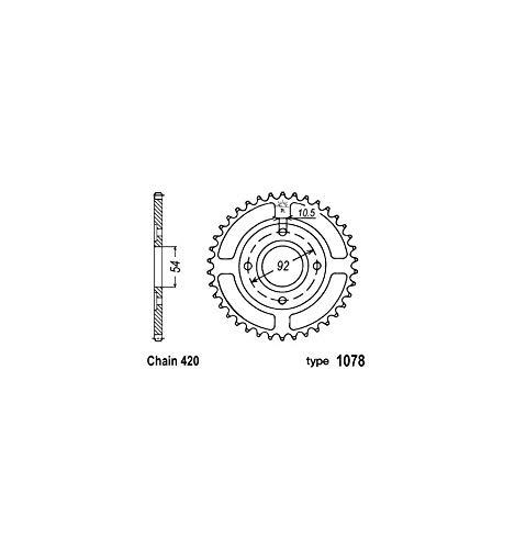 Desconocido Corona Acero B1 47 Dientes Cadena 420 Yamaha Tzr50 –  MBK X-Power