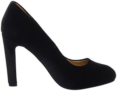 Maria Mare Damen CHANTY Geschlossene Schuhe mit Absatz Schwarz (Samt Schwarz)