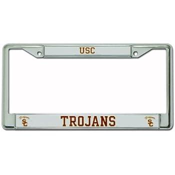 Amazon.com: USC Trojans Alumni Bling Chrome Metal License Plate ...