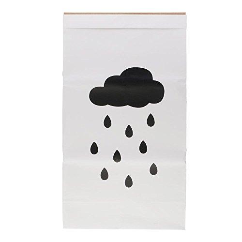 VANKER papel de Kraft el bolso del almacenaje El bebé embroma el bolso grande del organizador del juguete -- Estrellas lluvia