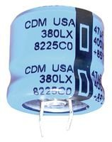 CORNELL DUBILIER 380LX123M063A052 CAPACITOR ALUM ELEC 12000UF 63V 20%, SNAP-IN (1 piece) by Cornell Dubilier