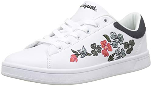 Court Zapatillas Desigual para Blanco Blanco Mujer Geopatch 1000 Retro Shoes vRxxqHE