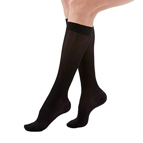 H2365 ACTIVA SHEER THERAPY 15-20MM KNEE HIGH BLK Q