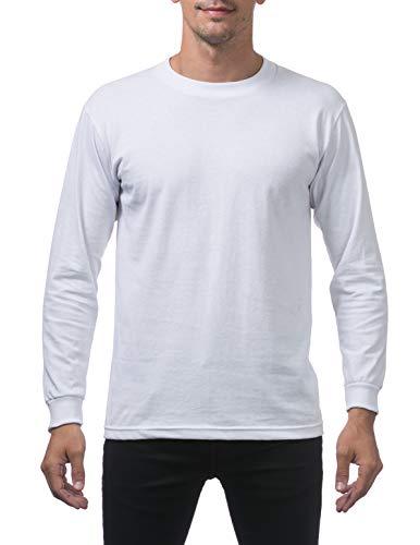T-shirt White Club (Pro Club Men's Comfort Cotton Long Sleeve T-Shirt 2X-Large Snow White)